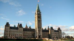 Ottawa-Parlaments-Gebäude Stockfoto