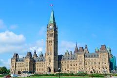 Ottawa-Parlaments-Hügelgebäude Stockfoto