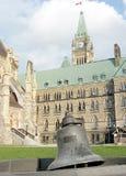 Ottawa parlamentVictoria Tower klocka 2008 Arkivbild