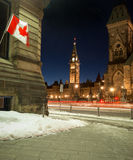 Ottawa Parliament Buildings twilight Royalty Free Stock Photography