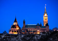 Ottawa Parliament Buildings viewed from West Side. A view of Ottawa parliament buildings as seend from the west side royalty free stock images