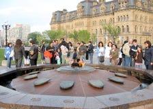 Ottawa Parliament Centennial Flame 2008 Royalty Free Stock Photo