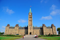 Ottawa Parliament Hill building Stock Image