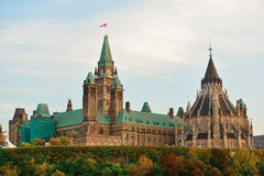 Ottawa Parliament Hill building Stock Photo
