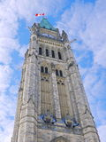 Ottawa parliament tower. View from below Stock Image