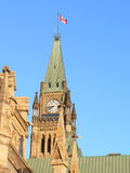 Ottawa - Peace Tower. Overlooking the Parliament Stock Photos