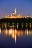Ottawa przy nocą Fotografia Stock