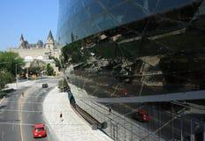 Ottawa regelmitt och reflexioner Arkivbilder
