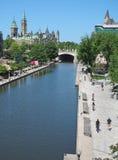 Ottawa Rideau Canal cycling trail Royalty Free Stock Image