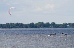Ottawa River parasailing Stock Photography