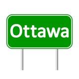 Ottawa road sign. Royalty Free Stock Photos