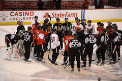 Ottawa Senators open training camp after NHL Lockout. The Ottawa Senators return to the ice for their first practice of training camp after the NHL lockout Royalty Free Stock Image