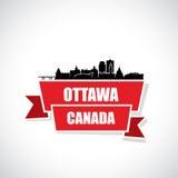 Ottawa skyline - Canada - vector illustration Royalty Free Stock Photo