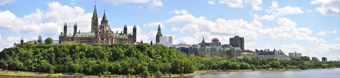 Ottawa Skyline Panorama Royalty Free Stock Images