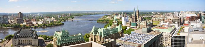 Ottawa Skyline Panorama Royalty Free Stock Photo