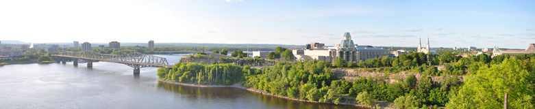 Ottawa Skyline Panorama Royalty Free Stock Photos