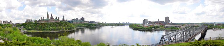 Ottawa Skyline Panorama Stock Images