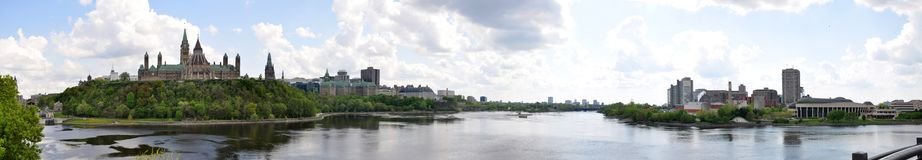 Ottawa Skyline Panorama Royalty Free Stock Image