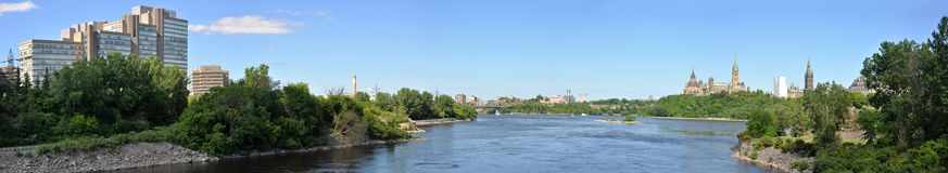 Ottawa Skyline Panorama Royalty Free Stock Photography