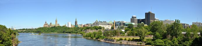 Ottawa Skyline Panorama Stock Image