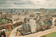 Ottawa stadshorisont Arkivfoto