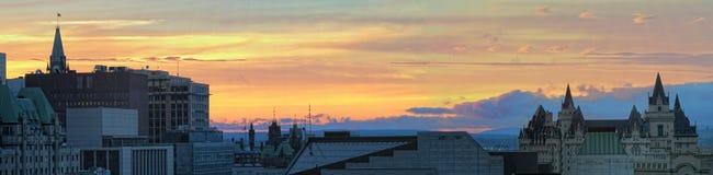 Ottawa Sunset Panoramic Royalty Free Stock Image