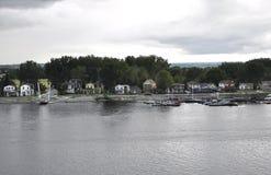 Ottawa, 26th Czerwiec: Ottawa brzeg rzeki krajobraz od Gatineau w Ontario prowinci Obrazy Royalty Free