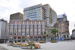 Ottawa, 26th Czerwiec: Historyczni budynki od śródmieścia Ottawa w Kanada zdjęcie royalty free