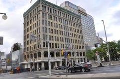 Ottawa, 26th Czerwiec: Westin Hotelowy budynek od śródmieścia Ottawa w Kanada obraz royalty free