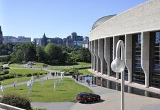 Ottawa, 26th June: Canadian Museum of History Park from Ottawa in Canada Royalty Free Stock Photo