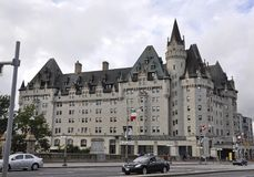 Ottawa, 26th June: Fairmont Chateau Laurier building from Downtown of Ottawa in Canada. Fairmont Chateau Laurier building from Downtown of Ottawa in Canada on Stock Photos