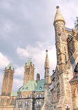 Ottawa torn av den kanadensiska parlamentet Maj 2008 Royaltyfria Bilder
