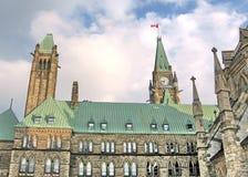 Ottawa tornen av parlamentet Maj 2008 Royaltyfria Foton