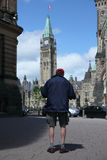 Ottawa. Tourist took picture at parliament Buildings  Ottawa, Canada Stock Image