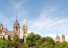 Ottawa trädkronan framme av parlamentet 2008 Royaltyfri Bild
