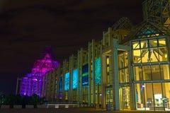 Ottawa vid natt Arkivfoton