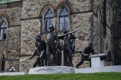 Ottawa y su parlamento Imagen de archivo libre de regalías