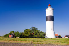 Ottenby lighthouse in summer season Royalty Free Stock Photos