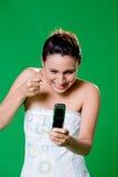 Ottenendo al vostro telefono mobile Fotografia Stock Libera da Diritti