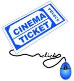 Ottenendo il biglietto di film in linea Immagine Stock Libera da Diritti
