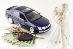Ottenere coscienza sposata e finanziaria fotografie stock libere da diritti