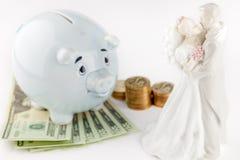 Ottenere coscienza sposata e finanziaria Fotografia Stock