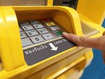 Ottenere tajlandzkiego bahta banconote Automatyczny Obrazy Stock