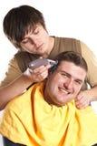 Ottenere un taglio di capelli Immagini Stock
