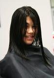 Ottenere un taglio di capelli Fotografia Stock