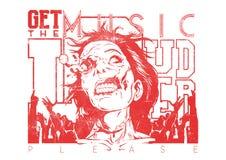Ottenga la musica più rumorosa Immagine Stock Libera da Diritti