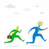 Ottenga la nuova idea dal concetto dei soldi Immagine Stock