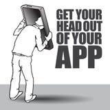 Ottenga la vostra testa dal vostro app Fotografia Stock Libera da Diritti