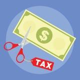 Ottenga una riduzione fiscale dal governo Fotografie Stock Libere da Diritti