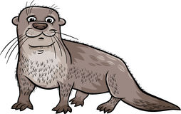 Otter animal cartoon illustration. Cartoon Illustration of Cute Otter Animal Stock Photos